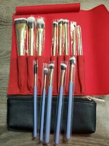 LUXIE 8 PIECE GLITTER AND GOLD BRUSH & Wonderlust 5 Piece Eye Makeup set. NIBag