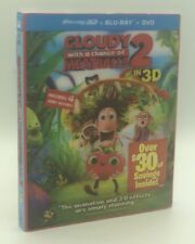 Cloudy with a Chance of Meatballs 2 in 3D (Blu-ray 3D+Blu-ray+DVD+Digital, 2013)