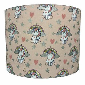 Kids Unicorn Lampshades, Ideal To Match Unicorn Wallpaper & Unicorn Duvet Covers