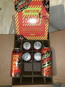 Mountain / MTN Dew Flamin / Flaming Hot 🔥 1 One Can Unopened Limited Edition ✈️
