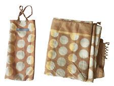 """MALATESTA NY SARONG-in-a-BAG 100% Cotton Handblock Printed POLKA DOTS 42"""" x 72"""""""