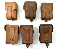 Yugoslavian Army M48 Leather Single Ammo Pouch MAUSER Ammunition Surplus Yugo