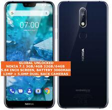 "NOKIA 7.1 3gb32gb 4gb/64gb dual sim card Fingerprint 5.84"" Android Smartphone"