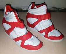 Skechers Skch+3 high top basketball sneakers kids' size 5 1/2 red/white touch