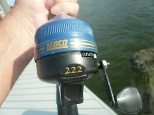 ZEBCO 222 MATCHING ROD&REEL COMBO SEMI-RARE 5 FT. PRETTY BLUE COLLECT OR FISH