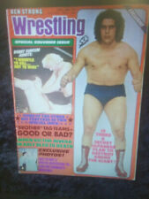 Bloody Early Andre Giant Ben Strong Wrestling Magazine WWWF NWA 1975 AWA vintage