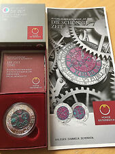 AUTRICHE 25 EUROS The Time 2016 Silver - Niobium Le Temps + Certificate + Flyer