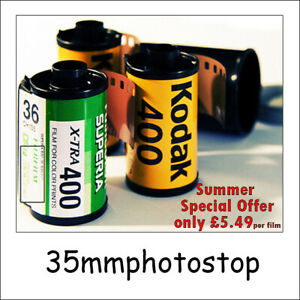 Film Processing Service 35mm - Developing & Hi-Res Digital flies to your Email