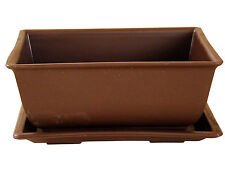 Bonsaischale Kunststoff mit Untersetzer, eckig, 14,5 x 10,5 x 7 cm # BSK-002