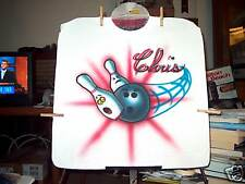 BOWLING PINS & BALL Airbrushed T-shirt Personalized All Sizes up to 6X