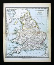 1857 Findlay Map Ancient Britannia England Wales London Roman Londinium Britain