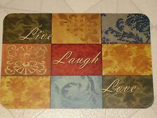 LIVE LOVE LAUGH VINYL PLACEMATS NEW SET OF 4