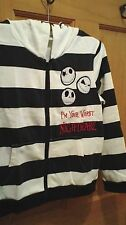 Disney Jack Skellington Zippered Hoodie Sweatshirt Jacket Youth Small