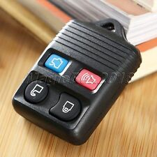 Replacement Black Keyless Remote Shell Pad Button Key Fob Housing Case For Ford