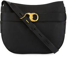 cbbd26decf8b NEW  595 Tory Burch Gemini Belted Large Leather Shoulder bag in Black