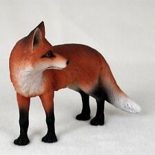 """New Red Fox Standing 5"""" Zoo Animal Figurine Sculpture Life Like Realistic Af27A"""