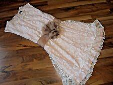 JANINA Romantisches Sommer-Kleid rose-weiß 40 Ausbrenner-Blumen-Optik Volant NEU