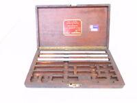 "PRATT WHITNEY Jig Bore Standards with Wood Case Box 3pcs 12"" End Measures"