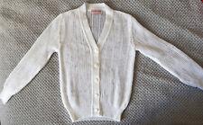 Gilet ajouré Vintage A.deMoncade Blanc T. XS à S