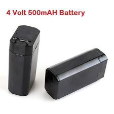 2 Pieces 4.0Volt, 500mAh (0.5 Ampere) Sealed Lead Acid Rechargable Battery BAT4V