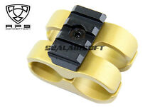 A.P.S. Airsoft Toy CAM 870 Type S Barrel Mount (Gold) (Toy Only) APS-CAM075