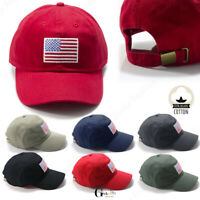 US American Flag Patch Cotton Baseball Polo Hat Mesh Trucker Tactical Cap