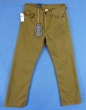 Men's Polo Ralph Lauren Classic 867 Olive Green Tan Denim Jeans (31)(32))x30