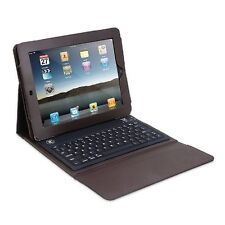 iPad Case With Bluetooth Wireless Keyboard Brown Color Innovative Technology