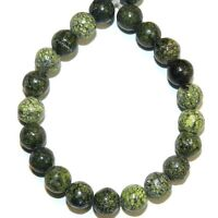 "GR789f Russian Serpentine Green 6mm Round Natural Gemstone 16"" (65 Beads)"