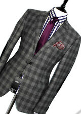 BNWT MENS HUGO BOSS GREY TARTAN TWEED HUNTING SHOOTING CHECK SUIT JACKET 42R