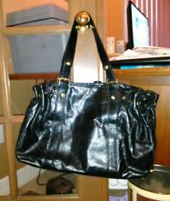 NWT PARADOX LEATHER $220 Black Large Shoulder Bag Purse Lined Buckle Straps