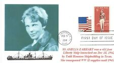 AMELIA EARHART Liberty Ships named Famous Americans Portrait First Day of Issue