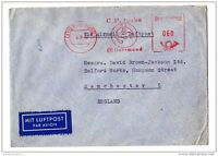 Germany 1950 Airmail Commercial Cover to MCR CH Jucho Meter Paid Dortmund X2331