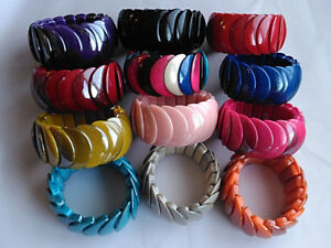 New Colourful Fashion Bracelet Stretchy Bangle Multi Bead Cord Funky fits all