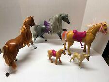 Set of 4 Barbie Mattel VINTAGE Horses