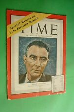 Time Magazine November 8, 1948 Physicist Oppenheimer