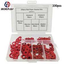 Red Vulcanized Fiber Paper Washer Gasket Assortment Kits, 330 pack