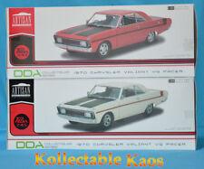 DDA 2 Car Combo - 1:18 1970 Chrysler Valiant VG - White & 1970 VG Valiant - Red