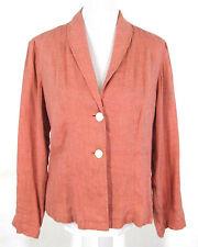 J. Jill Jacket Sz S Apricot Orange Linen Rayon Blazer Top Small Womens