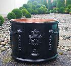 1800s PARIS antique french cast iron formal garden planter vtg english italian