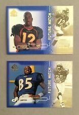 1998 SP Authentic Football - 2 Card Lot: #10 Nash & #5 Johnson Rookies RC /2000