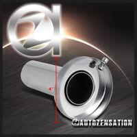 """JDM Insert Removable 4"""" Tip Sliencer Exhaust Catback Muffler Kit S/S"""