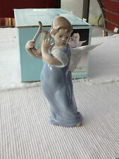 Lladro 5493 Angel with Lute - w/ Box
