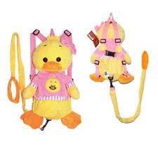 Baby Duck Plush Backpack Doll Toy Safety Anti lost Harness w/ Leash Kids Toddler