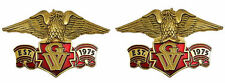 "Right / Left emblem set, eagle with red banner ""Est 1975 GW"" banner 3 inch"