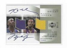 KOBE BRYANT/MICHAEL JORDAN 2003 UD Game used jersey card 8/10 *(REPRINT)*