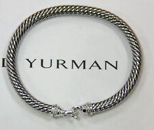 David Yurman - dy - 5mm Pave Diamond Cable Buckle Bracelet