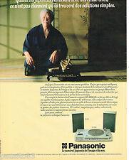 PUBLICITE ADVERTISING 075  1981  PANASONIC  chaine hi-fi stéréo SG-2100