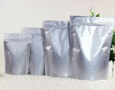 50 Silver (5x7) Aluminum/Foil Pouches, Mylar Ziplock Bag, Smell Proof Packaging