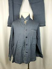 ROBERT GRAHAM Mens Size XL Blue Star 2 Peice Buttom Up Pajama Set
